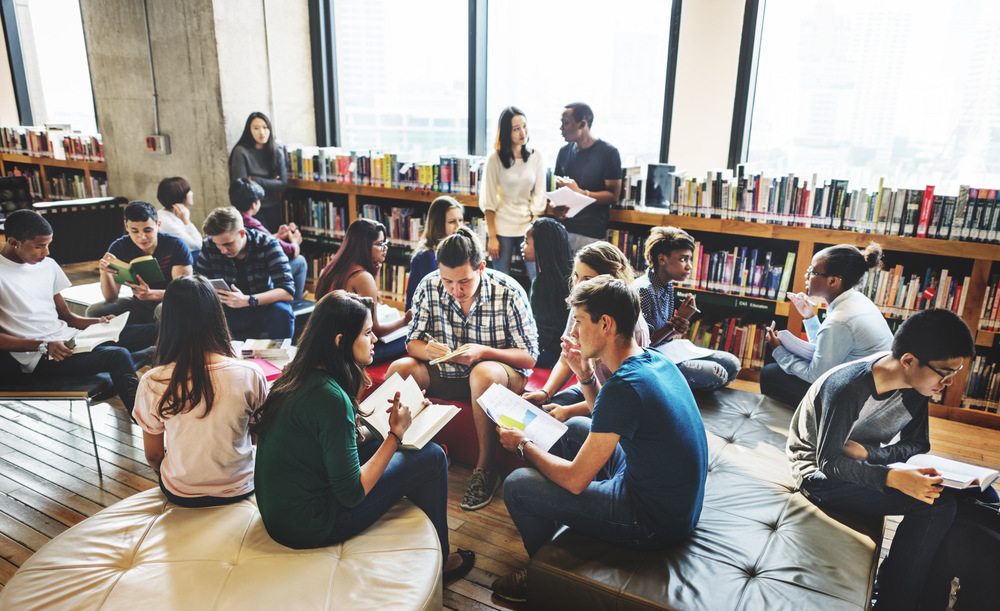 group-discussion-students-library